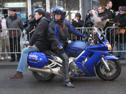 Cameraman op moto