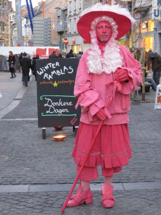 Roze standbeeld