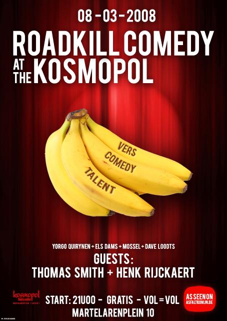 Roadkill Comedy 8 maart