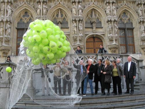 persconferentie Leuven in Scène - ballonnen met vip-pakketten