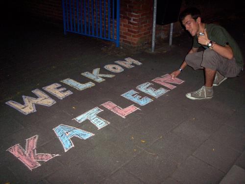 Welkom Katleen - stoepkrijtactie