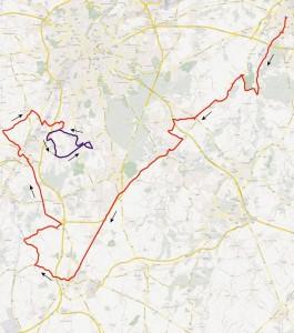 Wedstrijdroute Brabantse Pijl