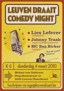 Leuven Draait Comedy Night 4 maart 2010