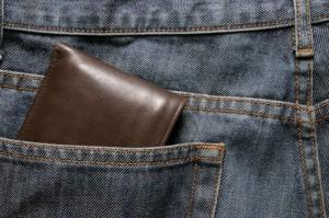 portefeuille nog in de broek