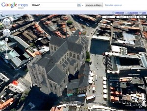 Leuvenop Google Earth