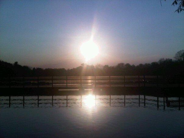 Zonsondergang Provinciaal domein Kessel-Lo