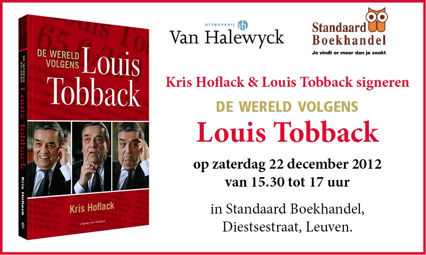 signeersessie De wereld volgens Louis Tobback