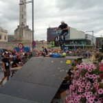 Jump over een ramp
