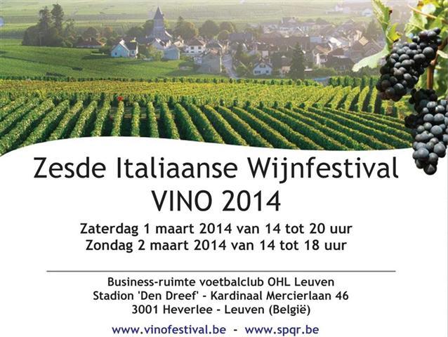 VINO2014 Italiaanse wijn festival S.P.Q.R. in Leuven