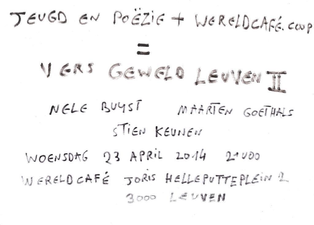 Affiche_Vers_Geweld_II_wereldcafe_leuven