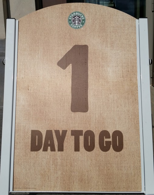 Starbucks Leuven: 1 day to go