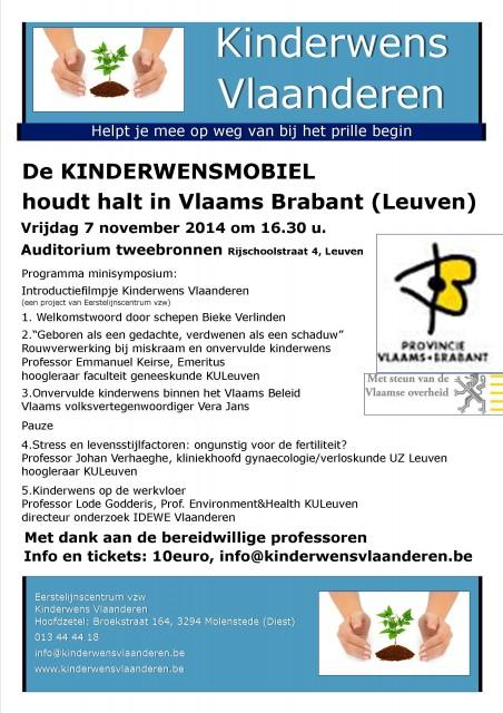 Aankondiging mini-symposium Kinderwens Leuven