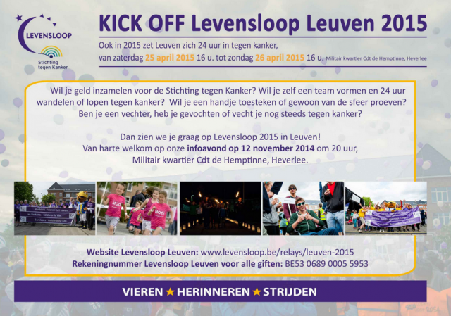 kickoff Levensloop Leuven