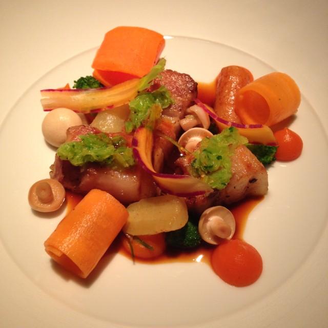 Duroc d'Olives/wortel/sudashi/cime di rapa