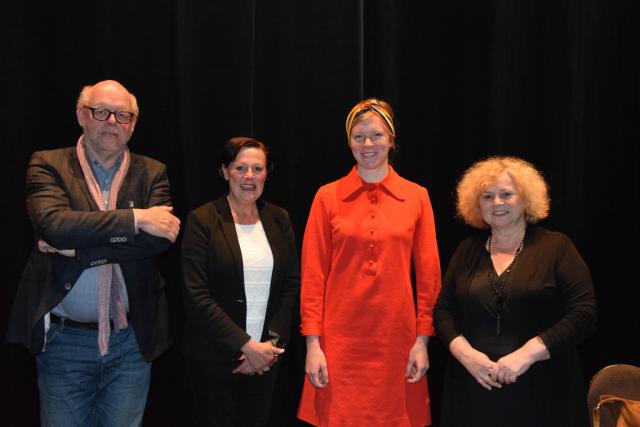 Vlnr: Rik Van Molkot, Fernande Stas, Elizabeth Joos en Denise Vandevoort
