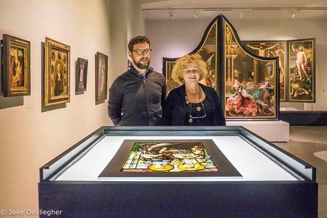 Peter Capreau, conservator Oude Kunst M en Denise Vandevoort, schepen cultuur stad Leuven