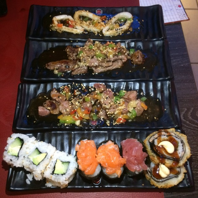 teppanyaki en sushi