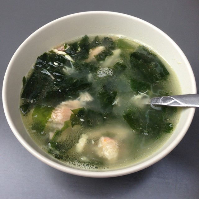 Chicken seaweed soup