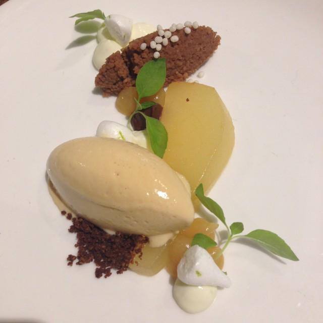 Kweepeer Mascarpone-karamel-chocolade